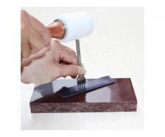 Garfo Vazador Cinzel Perfurador de Couro 6mm - Trabalho com Couro - Kit com 4 Peças