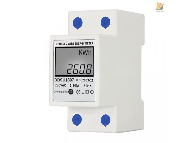 relogio Medidor De Energia Elétrica 220v  Kwh Watimetro Voltimetro Amperimetro Fp - 1/6