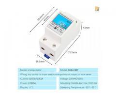 relogio Medidor De Energia Elétrica 220v  Kwh Watimetro Voltimetro Amperimetro Fp