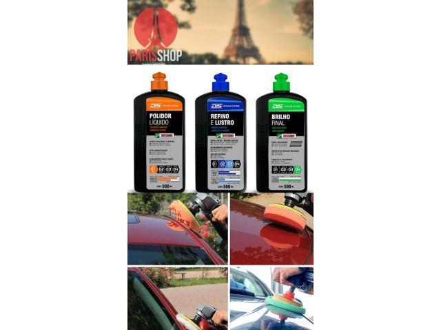 Kit Polimento de Pintura - Polidor + Refino e Lustro + Brilho Final - 4/5