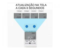 relogio Medidor De Energia Elétrica 220v  Kwh Watimetro Voltimetro Amperimetro Fp - Imagem 6/6