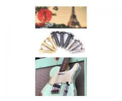 Parafuso Para Guitarra & Baixo Cromado Tipo Fender Para Escudo Kit