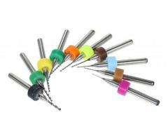 "Brocas para Micro Retifica Microretífica Haste 1/8"" - Kit com 10 Brocas"