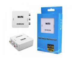 Adaptador Conversor de Vídeo HD Converte HDMI p/ RCA Áudio Video