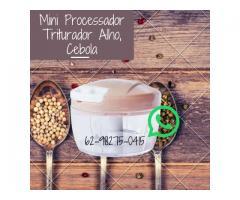 Mini Processador Triturador Manual com 2 Lâminas - Alho Cebola Cebolinha