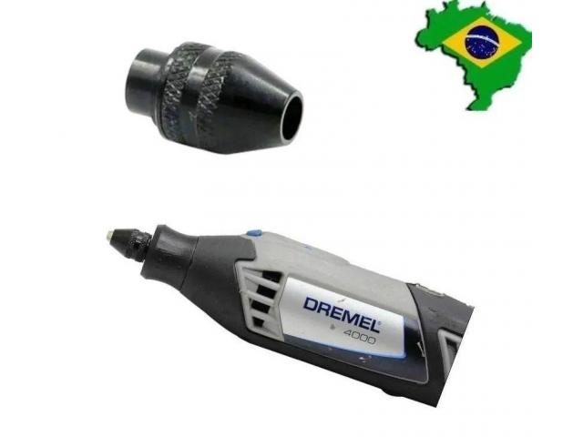 Mini Mandril Aperto Rápido p Microretífica Micro Retífica Dremel Séries 3000/4000 - 2/6