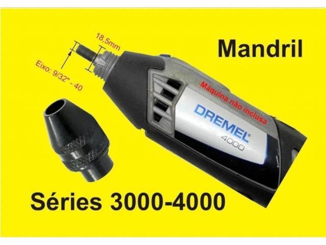 Mini Mandril Aperto Rápido p Microretífica Micro Retífica Dremel Séries 3000/4000 - 3/6