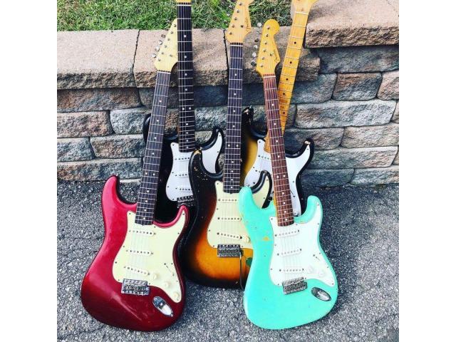 Kit Capa Knob P/ Captadores Potenciômetro e Ponteira de Alavanca Padrão Stratocaster - 4/5
