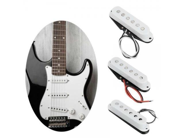 Captador Trio Braço Meio Ponte para Guitarra Single Coil Stratocaster Etc - 1/4