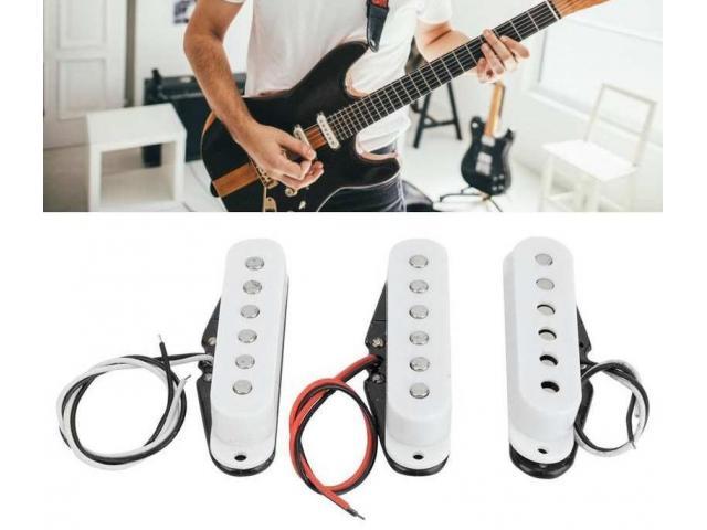 Captador Trio Braço Meio Ponte para Guitarra Single Coil Stratocaster Etc - 3/4
