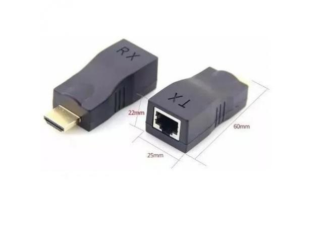 Adaptador Hdmi para Rede DVR Tela Extensor Hdmi x Rede até 30 Metros Via Cabo de Rede Rj45 - 6/6