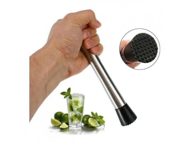 Socador Macerador Amassador de Frutas Drinks Caipirinha Bartender Barman - 1/4