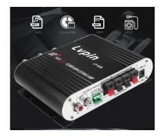 Mini Amplificador 55W  Estéreo 12v Super Bass Hifi Cd Mp3 Mp4 Celular 2.1 Canais