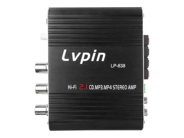 Mini Amplificador 55W  Estéreo 12v Super Bass Hifi Cd Mp3 Mp4 Celular 2.1 Canais - 3/5