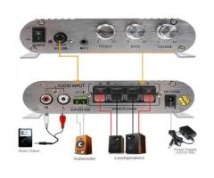 Mini Amplificador 55W  Estéreo 12v Super Bass Hifi Cd Mp3 Mp4 Celular 2.1 Canais - Imagem 4/5