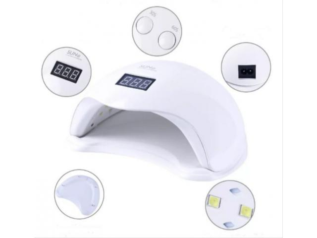 Cabine UV LED 48W com Timer para Unha Gel Acrigel Fibra etc - 1/4