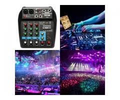 Mesa de Som Bluetooth Interface de Áudio 4 Canais Phantom Power 48v Karaokê  Efeitos - Imagem 3/6