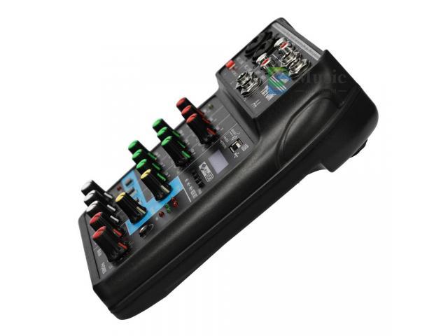 Mesa de Som Bluetooth Interface de Áudio 4 Canais Phantom Power 48v Karaokê  Efeitos - 4/6