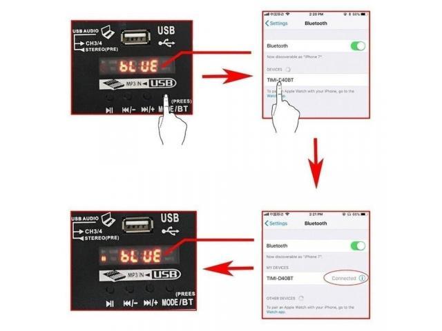 Mesa de Som Bluetooth Interface de Áudio 4 Canais Phantom Power 48v Karaokê  Efeitos - 6/6