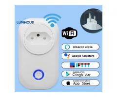 Tomada Inteligente Smart Wifi Automação Comando de voz  Amazon Alexa, Google Bivolt