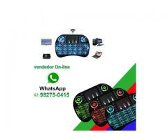 Mini Teclado Wireless Touchpad Sem Fio com Teclado Iluminado para Televisão TV Box etc