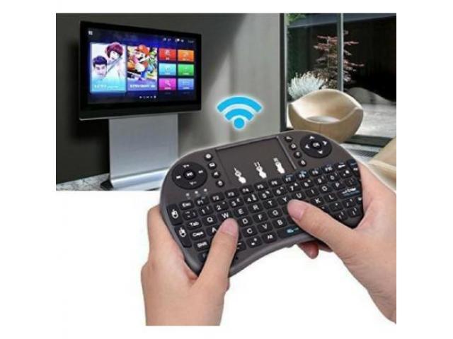 Mini Teclado Wireless Touchpad Sem Fio com Teclado Iluminado para Televisão TV Box etc - 2/4