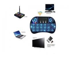 Mini Teclado Wireless Touchpad Sem Fio com Teclado Iluminado para Televisão TV Box etc - Imagem 4/4