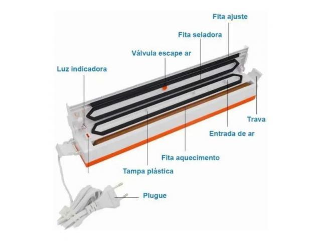 Seladora a Vacuo Embaladora Máquina de Selar 220V + Brinde - 3/5