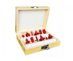 Jogo Fresa para Tupia Haste de 8mm - Kit com 12 Peças