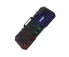 Teclado Gamer Semi Mecânico com Fio Teclado Iluminado Jogos PC Games