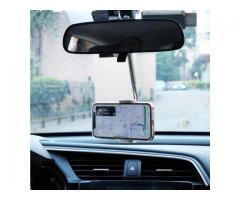 Suporte Articulado para Celular Encaixe Retrovisor - Suporte Celular Carro GPS Uber etc