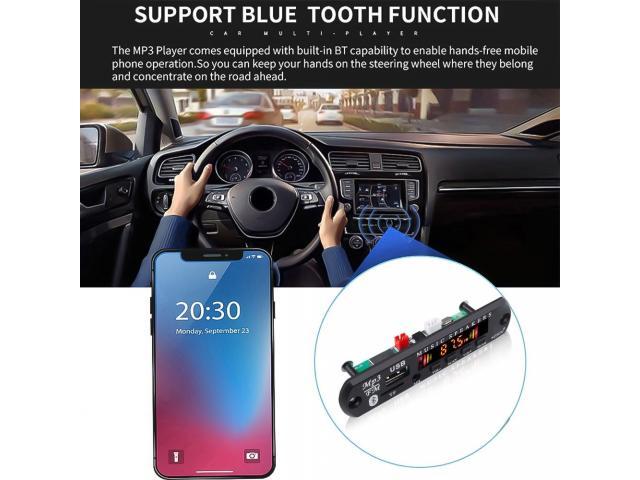 Placa Bluetooth Decodificador Amplificada 50W 2x25w Pendrive Mp3 Bluetooth 5.0/USB s/ Fio - 1/6