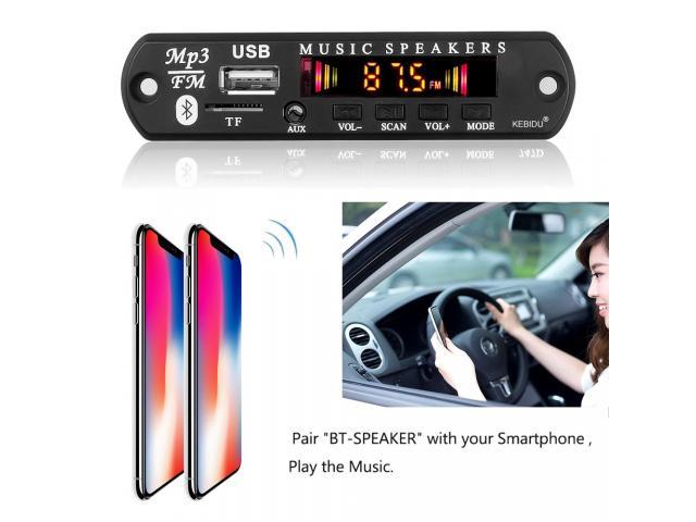 Placa Bluetooth Decodificador Amplificada 50W 2x25w Pendrive Mp3 Bluetooth 5.0/USB s/ Fio - 4/6