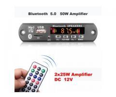 Placa Bluetooth Decodificador Amplificada 50W 2x25w Pendrive Mp3 Bluetooth 5.0/USB s/ Fio - Imagem 5/6