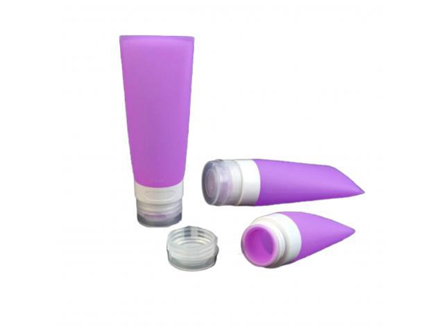 Kit 3 Frascos de Silicone para Viagem Bisnaga Pote Portátil Colorido - 2/6